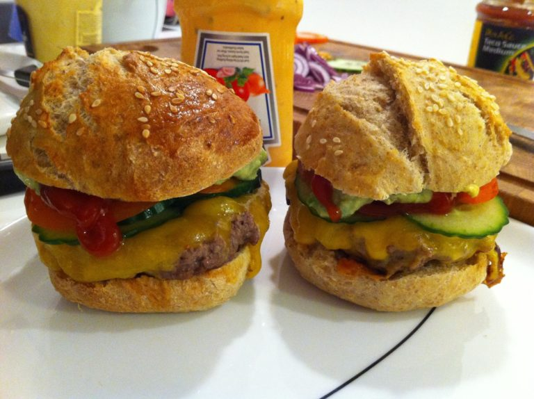 Hjemmelavede burgere, som de vil lave dem i USA 7
