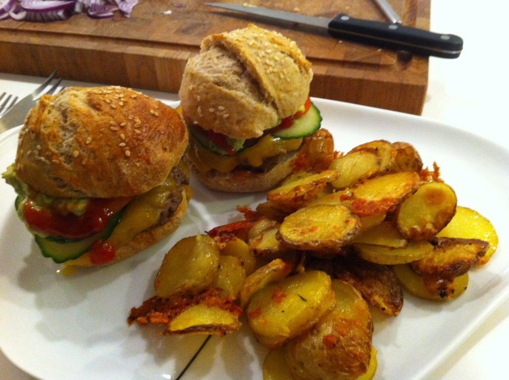 Hjemmelavede burgere