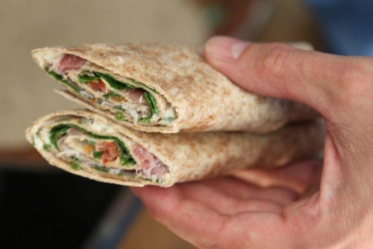 Opskrift: Wraps med flødeost, rucola & skinke 5