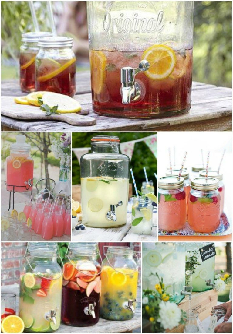 Bryllup: Cocktaildispensers & tag-selv-bord 3