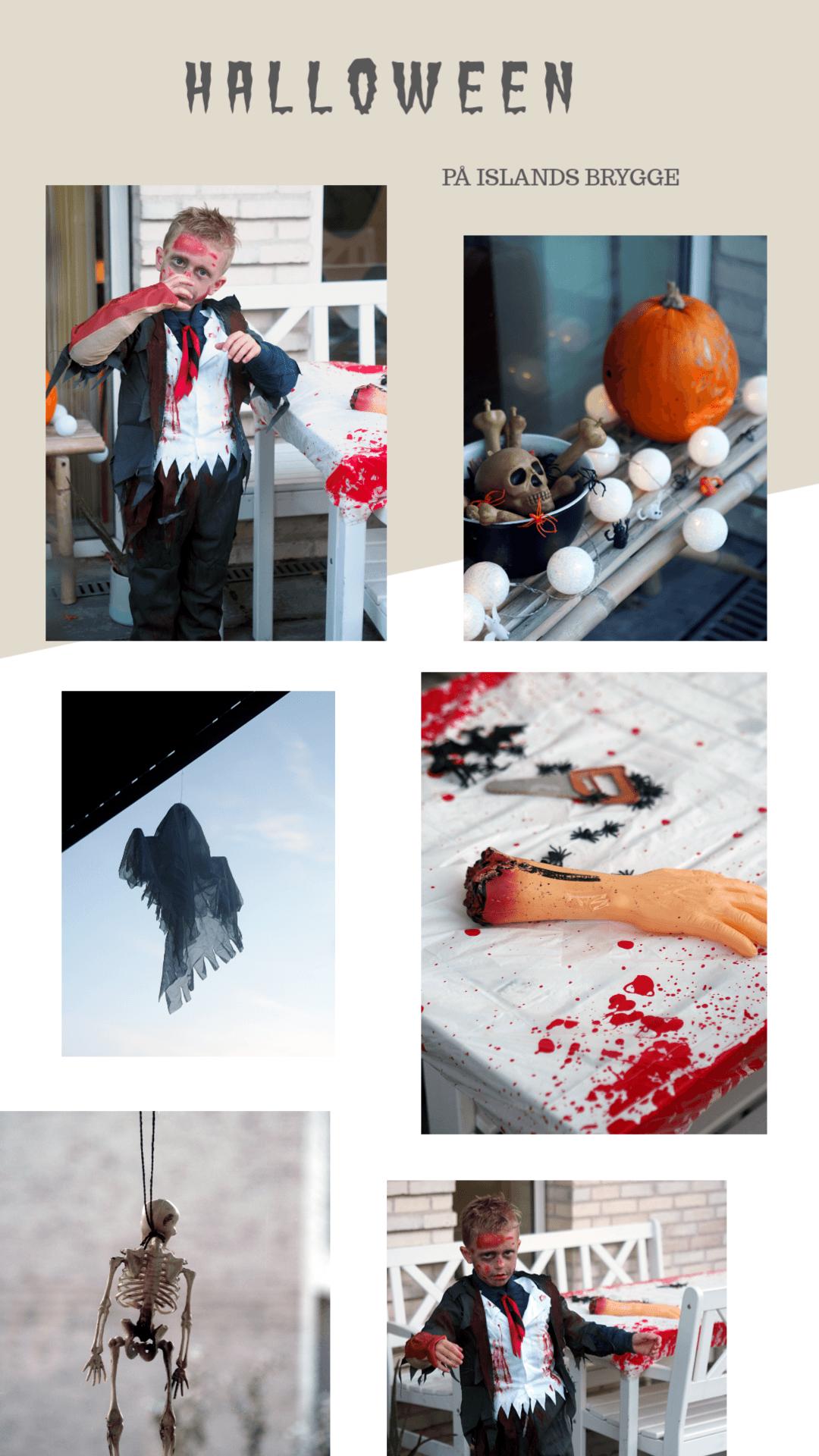 Halloween mad, pynt og udklædning