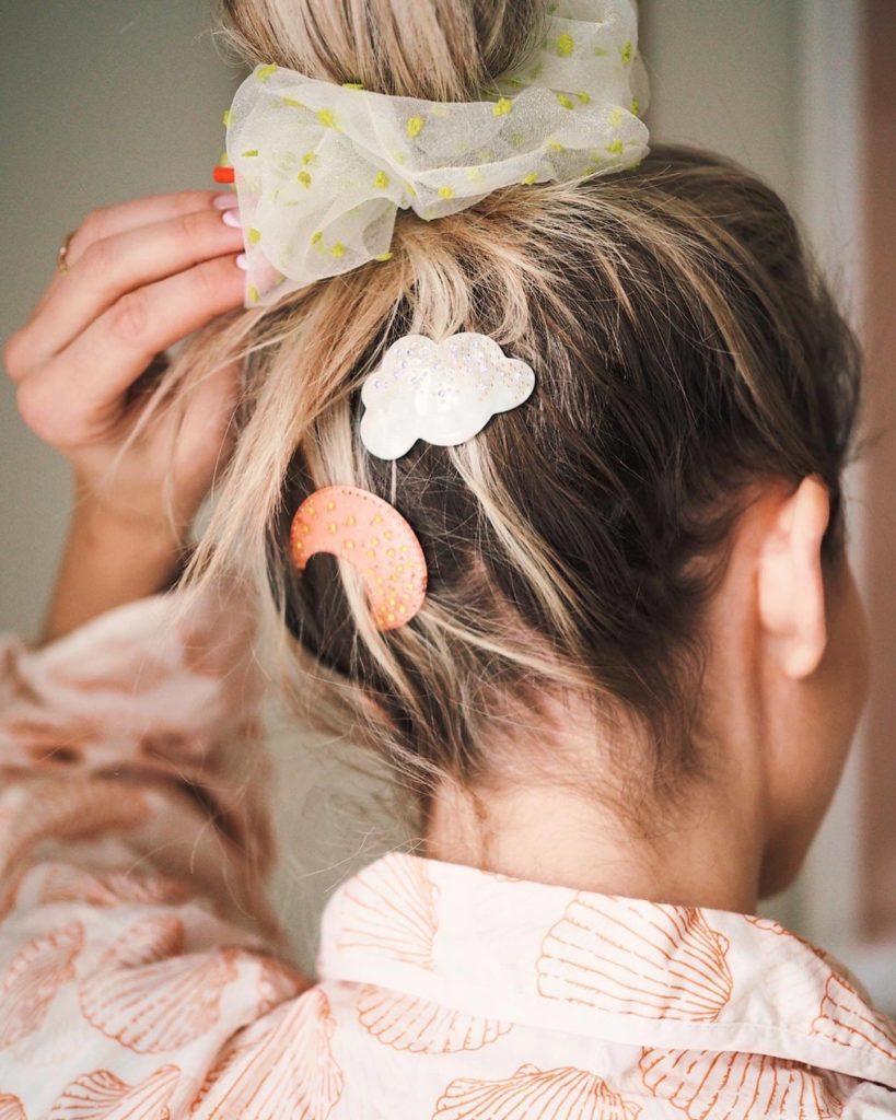 Månesten hårspænder